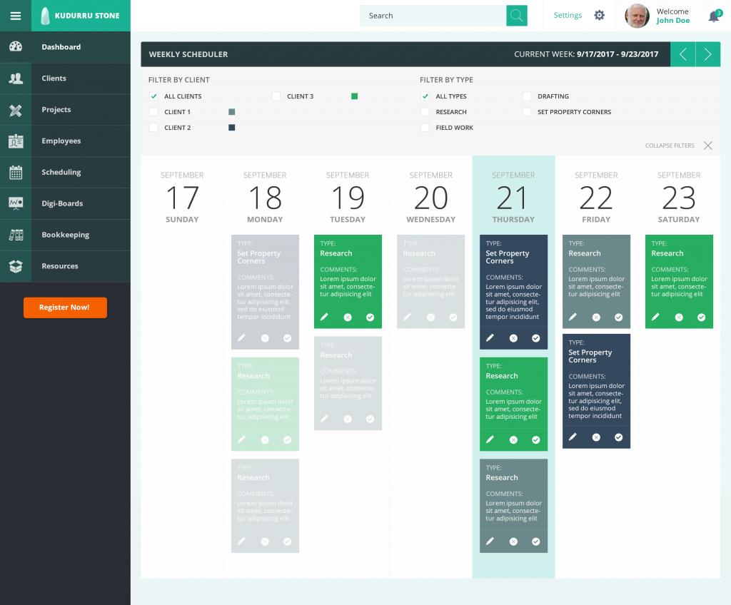 IoT dashboard example
