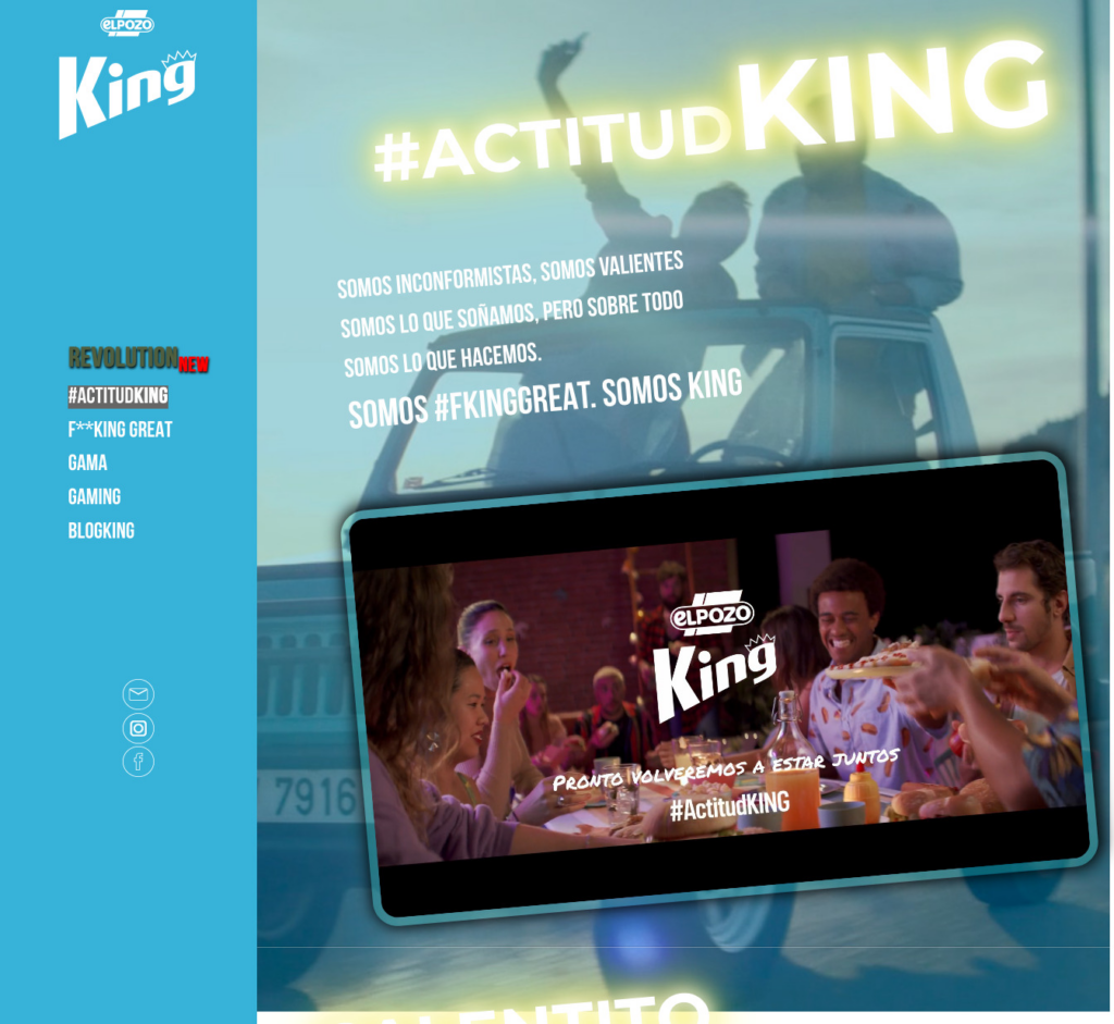 El Pozo King website design