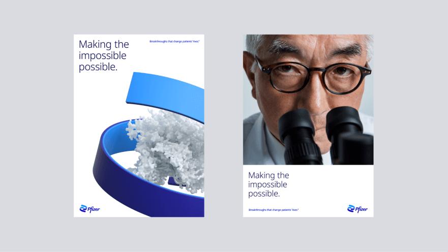 Pfizer rebranding 2021: UI cards