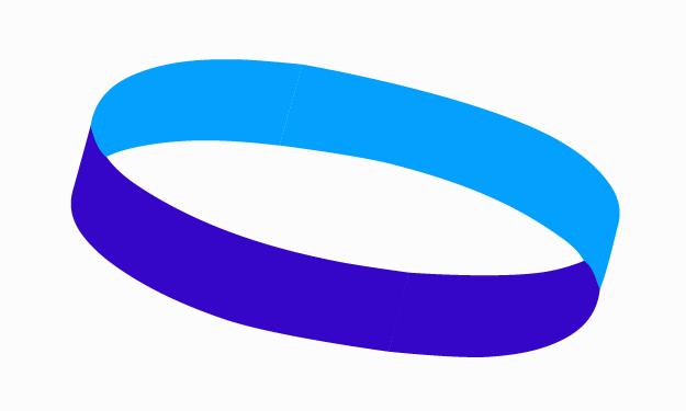 Pfizer logo as a Möbius strip