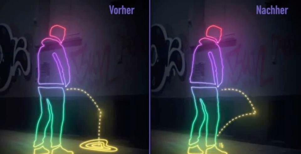 Urban UX: the anti pee wall