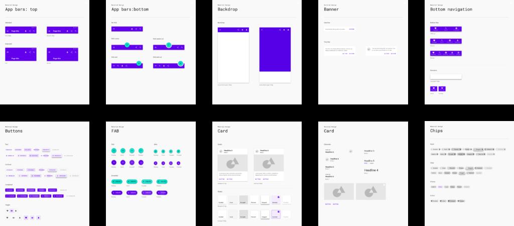 Material Design Elements Sheet