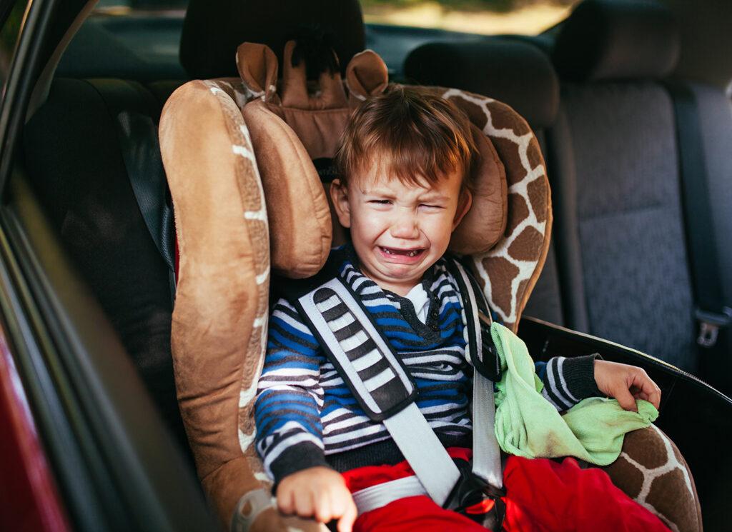 Emotional Design: Distress kid crying in car