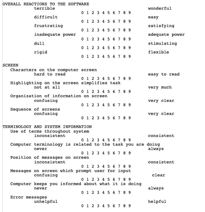 UX design history: QUIS example