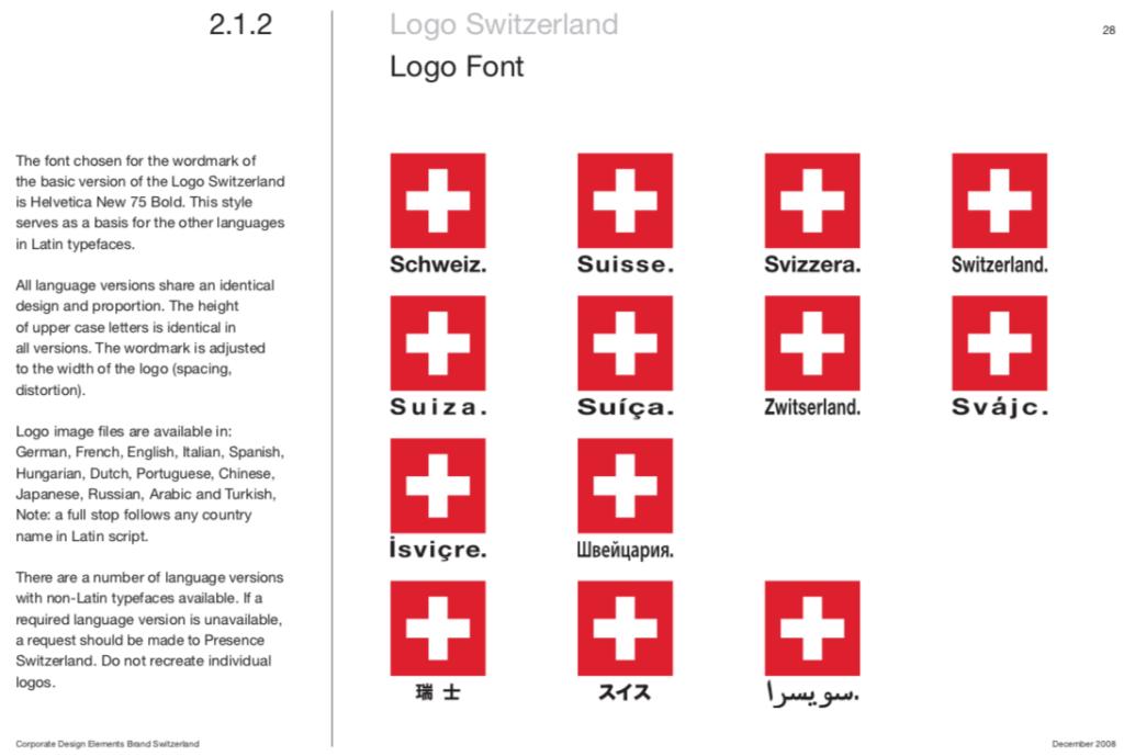 Switzerland Brand Guidelines