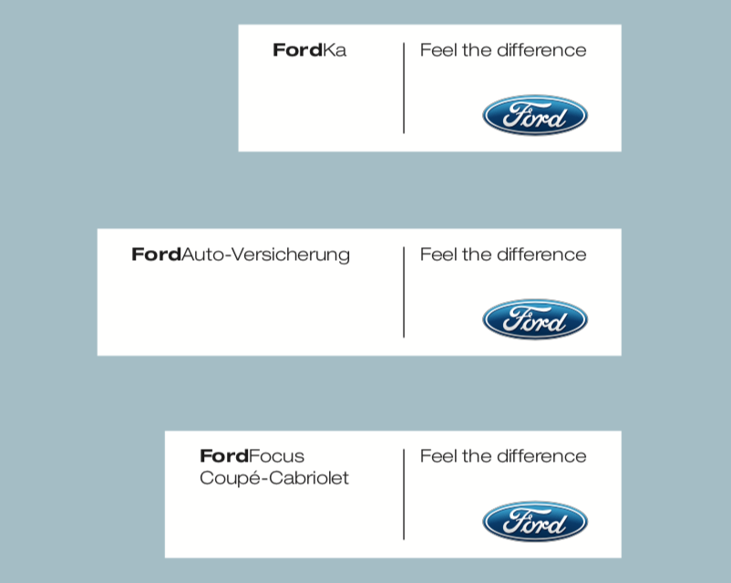 Ford's Car Brnad Book and Trademark Manual