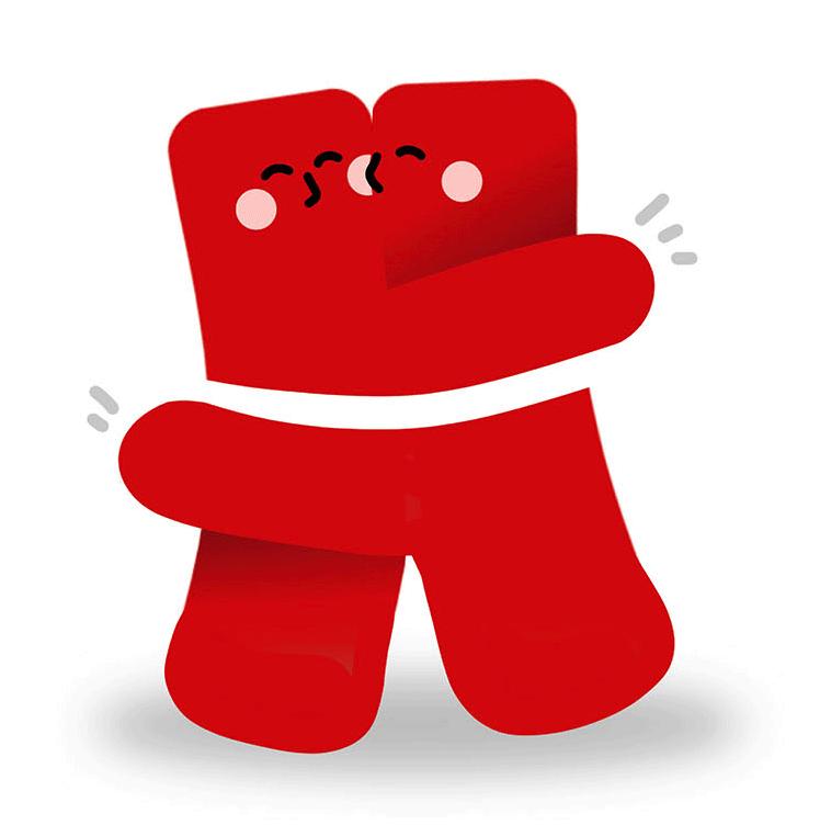 Huggies logo redesign: a playful monogram