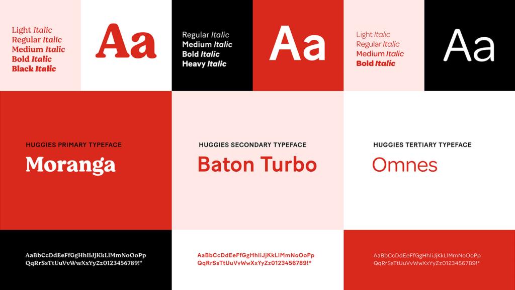 Huggies Typography