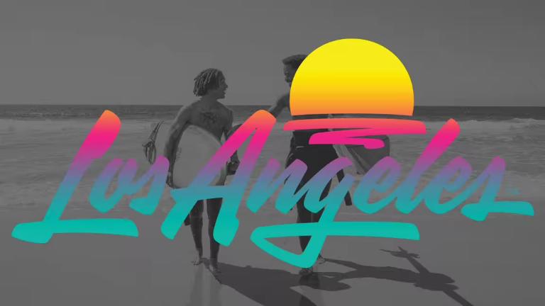 Los Angeles logo design application