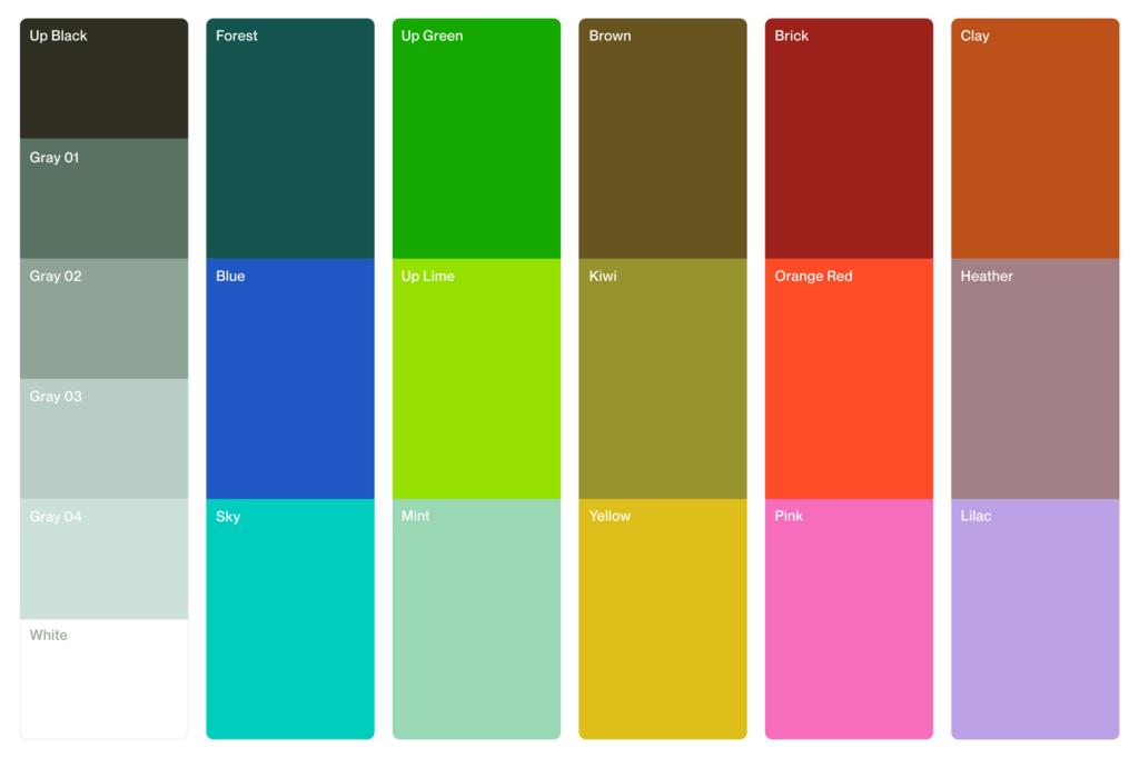 Upwork 2021 rebranding: The new color palette